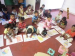Children doing creative work